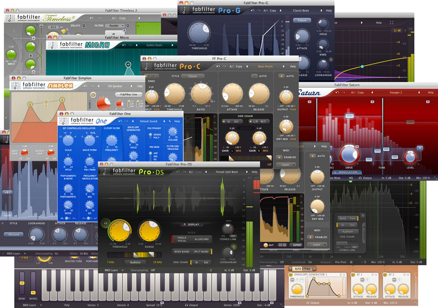 fabfilter mixing and mastering plugins. - digital mastering